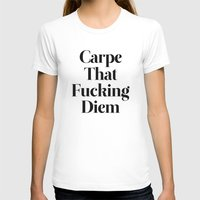 quote T-shirts featuring Carpe by WRDBNR
