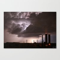 Industrial Spark Canvas Print