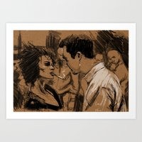 Marla & Tyler Doodle Art Print