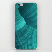 Turquoise Sediment iPhone & iPod Skin
