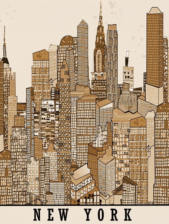 new york vintage (option) Art Print