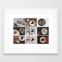 Morning stories - SWEET set Framed Art Print