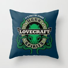 Lovecraft Dark Spirits Throw Pillow