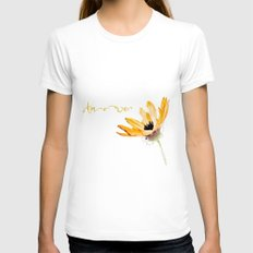 Flower Amore Womens Fitted Tee White SMALL