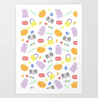 Kids Halloween Design Art Print