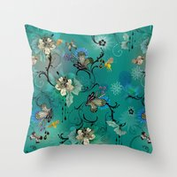 The Butterflies & The Bees  Throw Pillow