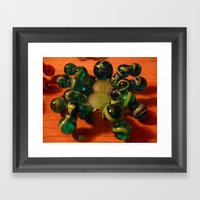 Green Spider Framed Art Print