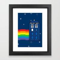 TARDIS / Nyan / 8-Bit Poster Framed Art Print