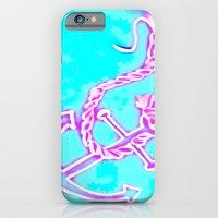 Bright Preppy Anchor Print, hand drawn iPhone 6 Slim Case