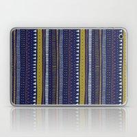 Dark Blue Pattern Laptop & iPad Skin