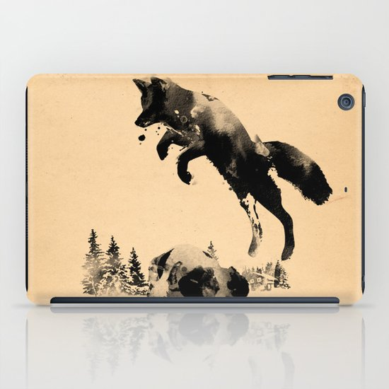 The quick brown fox jumps over the lazy dog iPad Case