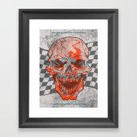 Death Valley Racers Motorcycle Club Framed Art Print