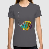 Fish Womens Fitted Tee Asphalt SMALL