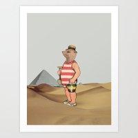 Sandcastles Art Print