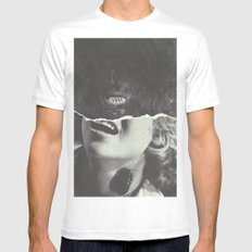 Canines Mens Fitted Tee White SMALL