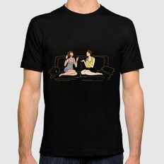 girl talk Mens Fitted Tee Black SMALL