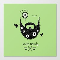 Make Beards Not War! Canvas Print