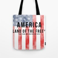 America: Land Of The Fre… Tote Bag