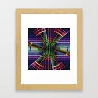 Plaid Movement 001 Framed Art Print