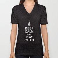 Keep Calm And Play Cello Unisex V-Neck