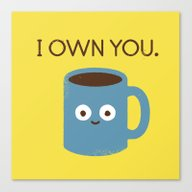 Canvas Print featuring Coffee Talk by David Olenick