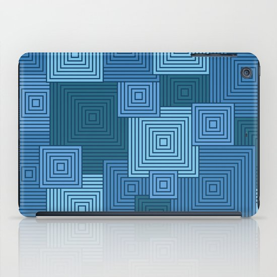 Blue Platformer iPad Case