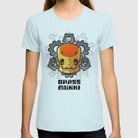 Brass Munki - Bot015 Womens Fitted Tee Light Blue SMALL