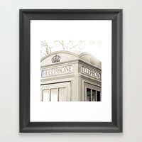 London Telephone Booth Framed Art Print