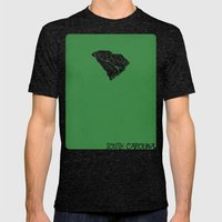 South Carolina Minimalis… Mens Fitted Tee Tri-Black SMALL