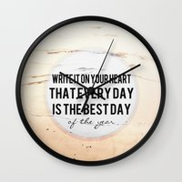 Write It On Your Heart  Wall Clock