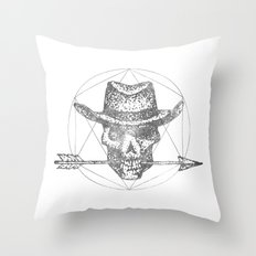 Dead Sheriff Greyscale Throw Pillow