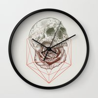 Skull Rose Geo Wall Clock