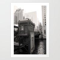 Black And White Chicago … Art Print