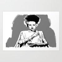 Bride 2.. Art Print