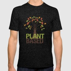 Plant Based Fall Tree Mens Fitted Tee Tri-Black SMALL