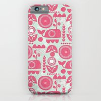 folk whale iPhone 6 Slim Case