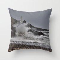 Mumbles Wild Waves. Throw Pillow
