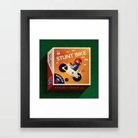 Stunt Bike Framed Art Print