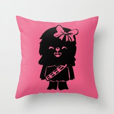 Baby Girl Wookie in Pink Graphic Throw Pillow