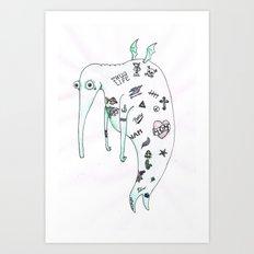 Tatoodle Art Print