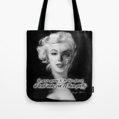 Two Face. Marilyn Quote Tote Bag