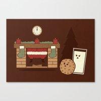 Santa's Coming Canvas Print
