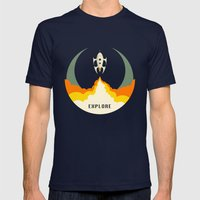 Explore Mens Fitted Tee Navy SMALL