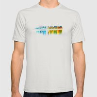 white ship. Mens Fitted Tee Silver SMALL