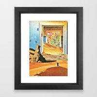 Through The Door Framed Art Print