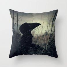 Thoughtful Plague Throw Pillow