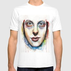 Rory. SMALL White Mens Fitted Tee