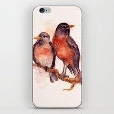 Two Robins iPhone & iPod Skin