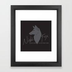 Night Fox Logo Framed Art Print