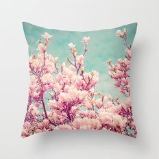 Vintage Magnolia II Throw Pillow